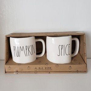 Rae Dunn PUMPKIN SPICE Mugs New in Box